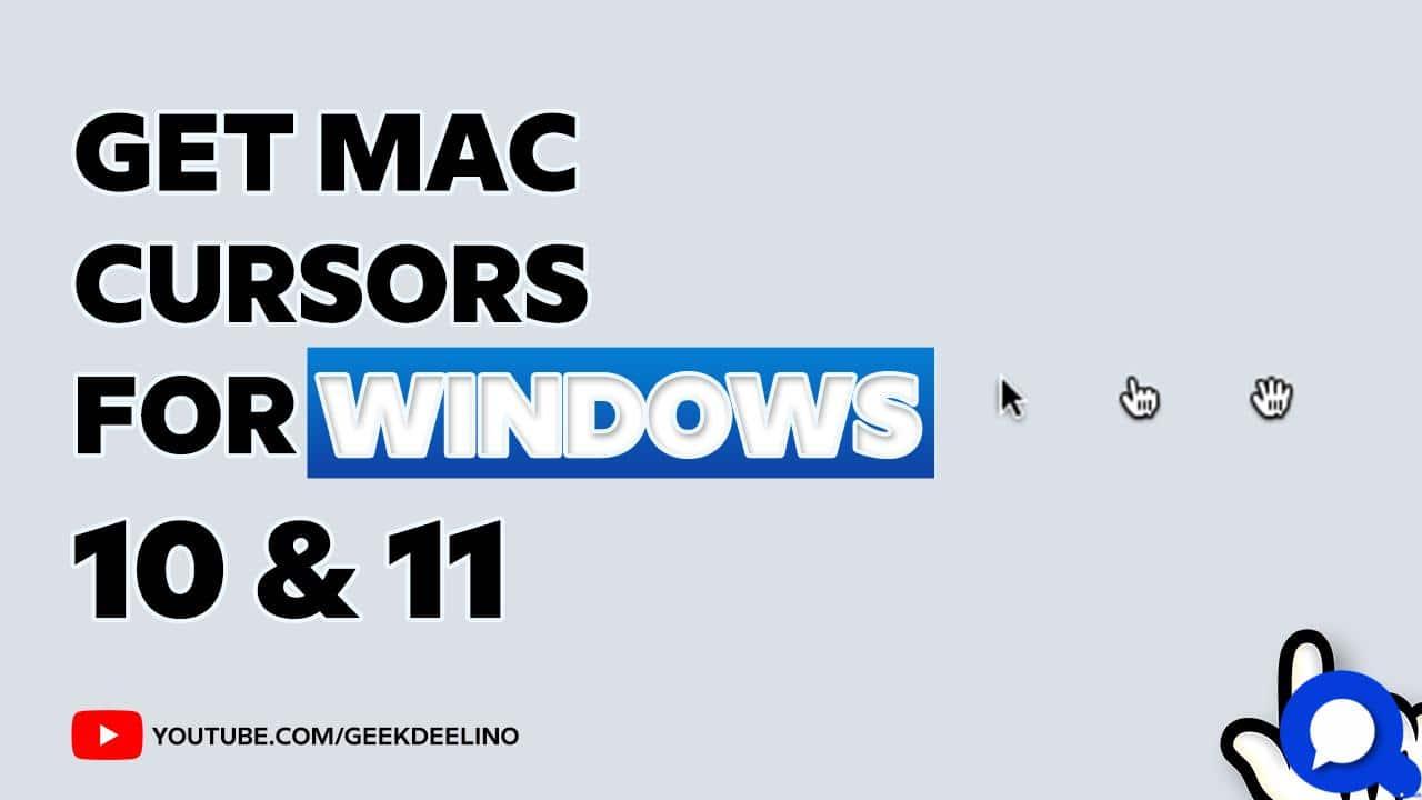 Mac os Cursor for windows 11